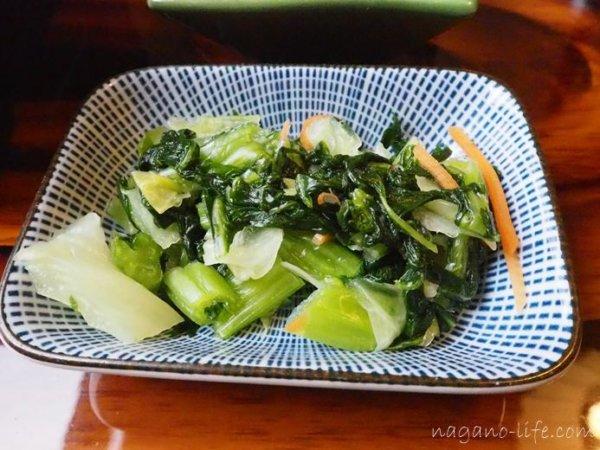 観光荘 岡谷市 副菜 お漬物