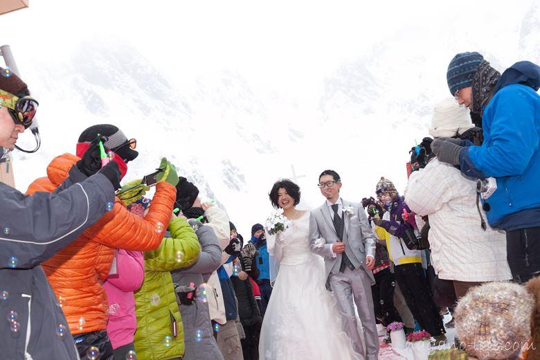 山 結婚式 千畳敷 駒ヶ根市 純白の結婚式