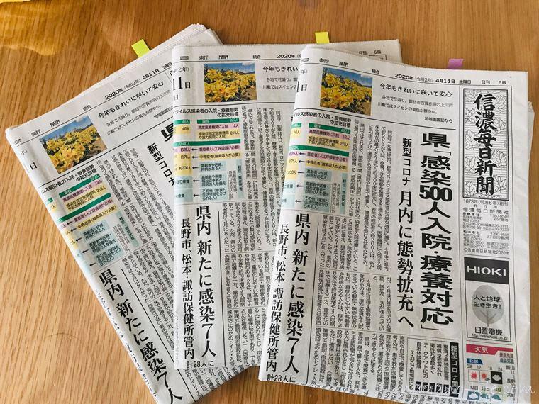 ブログ記事 新聞