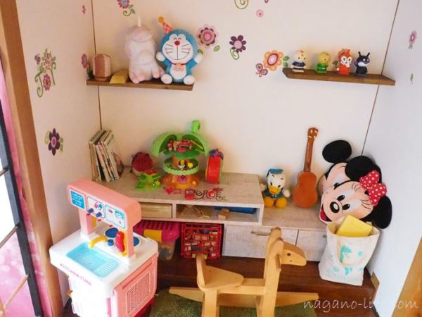 喫茶en 豊丘村 2階の部屋 キッズスペース