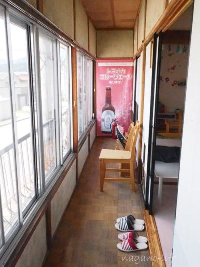 喫茶en 豊丘村 2階の廊下