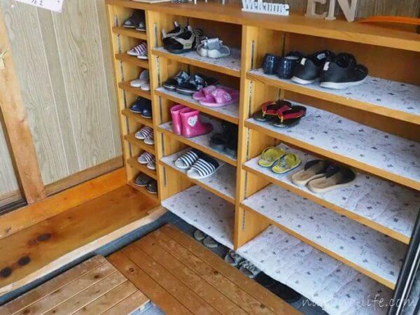 喫茶en 豊丘村 靴箱
