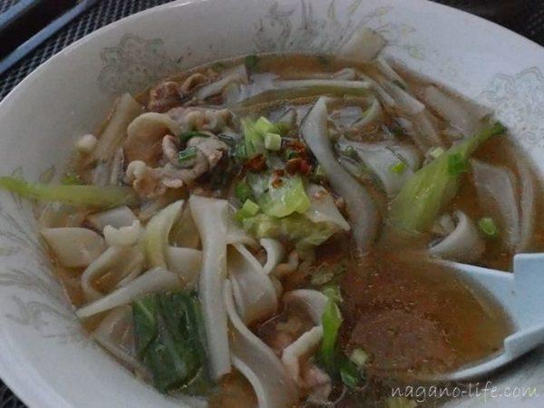 アゲイン 中川村 タイ料理 センヤイナム スープヌードル