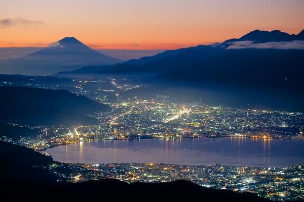 高ボッチ山から見た諏訪湖