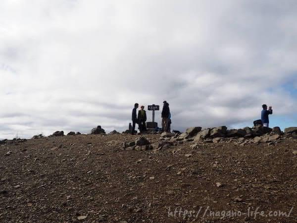 入笠山山頂の様子