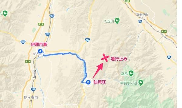 仙流荘から入笠山への道