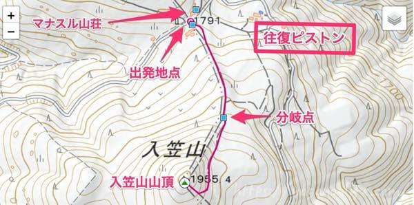 入笠山登山ルート