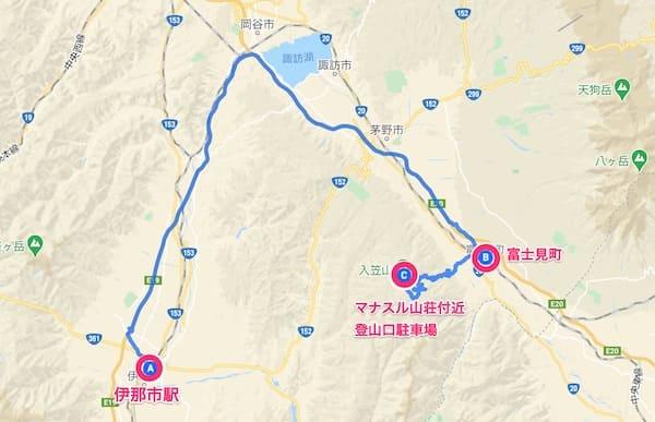 入笠山へ富士見から車でアクセスするルート