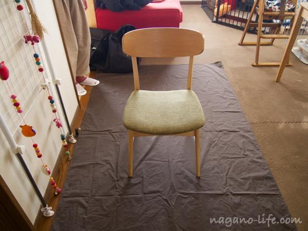 椅子が置かれた様子